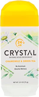 product image for Crystal Body Deodorant, Invisible Solid Deodorant, Chamomile & Green Tea, 2.5 oz, Pack of 5