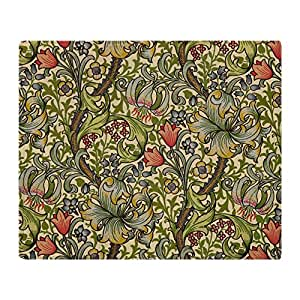 "CafePress - Morris Golden Lily Minor Design Throw Blanket - Soft Fleece Throw Blanket, 50""x60"" Stadium Blanket"