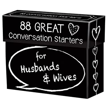 88 Great Conversation Starters for Husbands and Wives – Romantic Card Game for Married Couples – Christian Adult Games, Communication & Marriage Help, Fun Anniversary or Wedding Gifts for the Couple