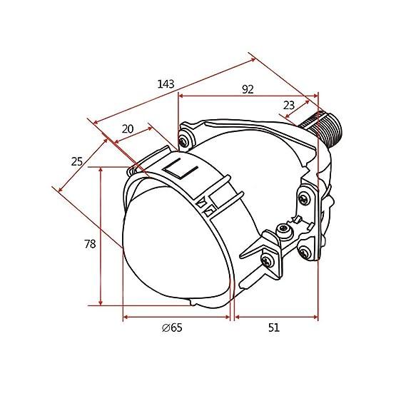 Amazon Com Yufanya 2 8 Inch Bi Led Projector Lens Car Headlight