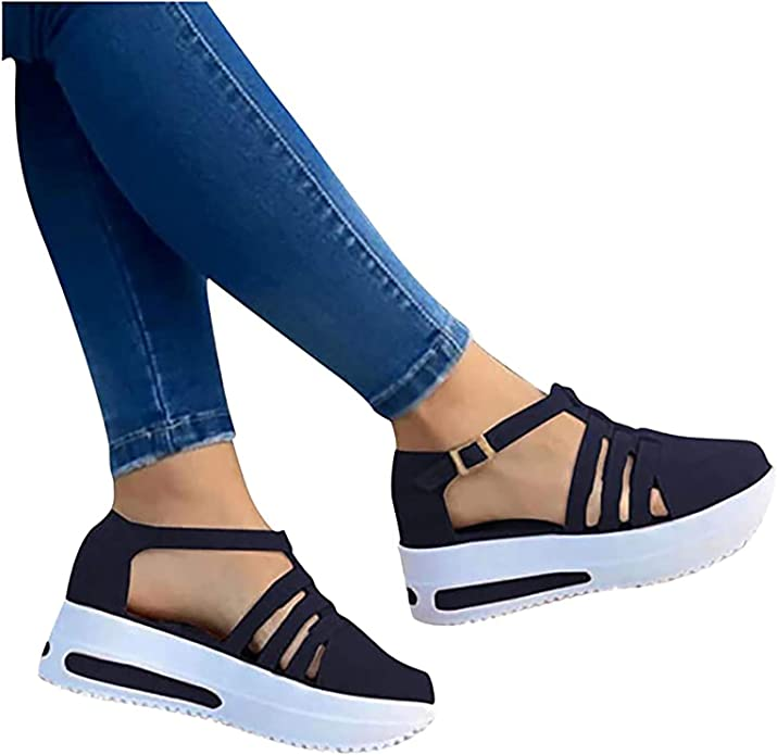 Summer Outdoor Mens Casual Leisure Shoes Sandals Sports Hollow Shoes Strappy