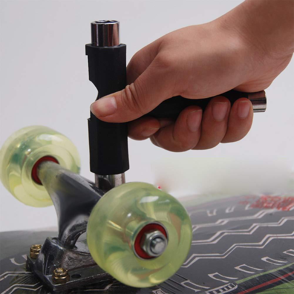 Skateboard Fix Tool T-Tool Standard Complete Skateboard Repair Tool Black 2Pcs