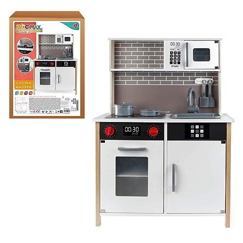 WOOMAX Cocina de madera con accesorios luz y sonido ColorBaby 49026