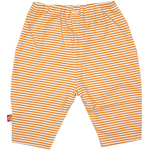 (Zutano Candy Stripe Legging, Orange, Newborn)