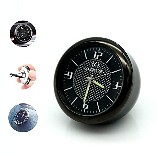 Zhmyyxgs Car Clock Car Air Vent Quartz Clock Mini Car Dashboard Clock Decoration Accessories 1.57 Diameter Mercedes-Benz