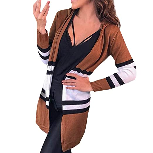462046b21bac63 Amazon.com  Besde Women s Autumn and Winter Baggy Cardigan Coat Long Chunky  Knitted Oversized Hooded Sweater Jumper  Garden   Outdoor