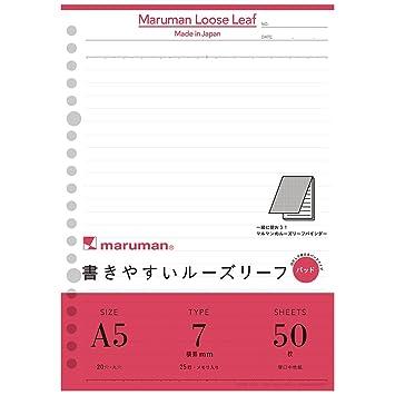 Maruman bloc de hojas sueltas de tamaño 7 mm Rayas l1300p 10 libros set: Amazon.es: Oficina y papelería
