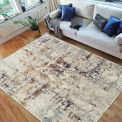 (Handcraft Rugs-Abstract Rugs/Luxury Livingroom/Fashion Home Modern Area Rugs-Rust/Ivory/Beige/Multi Color )