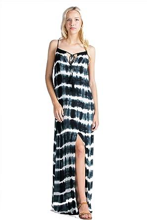 eb6cb222d94 Aakaa Women s Tie Dye Maxi Dress - -  Amazon.co.uk  Clothing