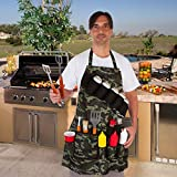 EZ Drinker Grill Master Grill Apron and Accessory Holds Beverages and Tools, Camouflage