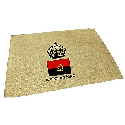 Amazon com: Angolan King Crown Jute Burlap Placemat Table