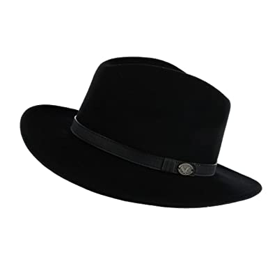 Epoch Hats Company Men s Wool Felt Outback Hat with Faux Leather Band ce10ebd38d24