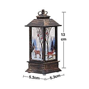 simulato Flame Light Halloween Natale artificiale fiamma luce lampada piccola lampada a olio decorazione bar e vacanza decorazioni 5.3x 5.3x 13cm Christmas Moose