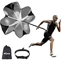 KUYOU Running Speed Training 56 inch Speed Training Resistance Parachute Umbrella Running Chute & Fitness Explosive…