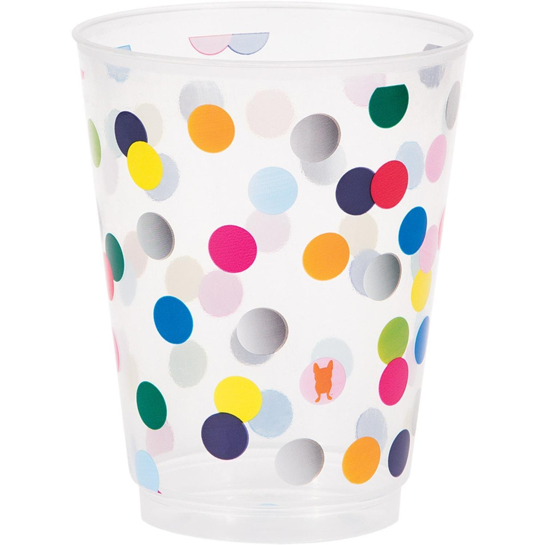 French Bull 325807 Birthday Dots Plastic Glasses 16 oz Muticolor Creative Converting