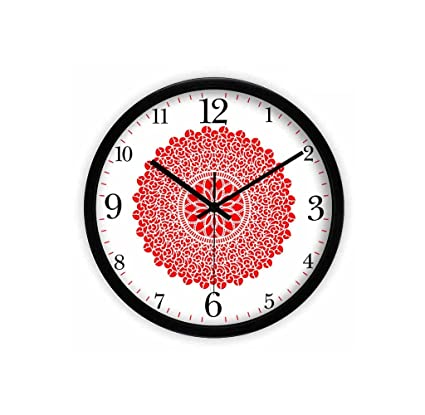 Amazon.com: LQQGXL Living Room Creative Art Pattern Quartz Clock HD ...