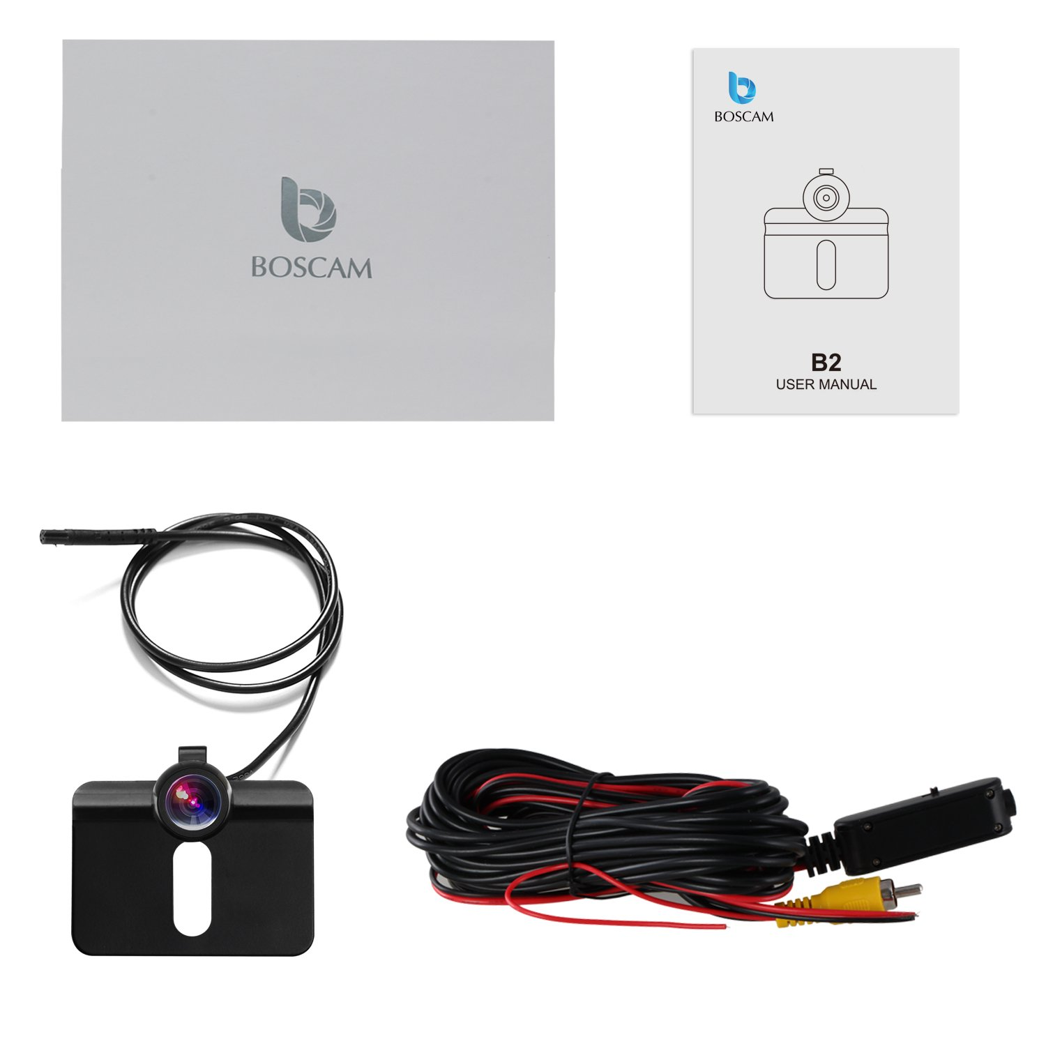 BOSCAM B2 Backup Camera Waterproof Wide Viewing Angle License Plate Rear View Camera Auto Backup System