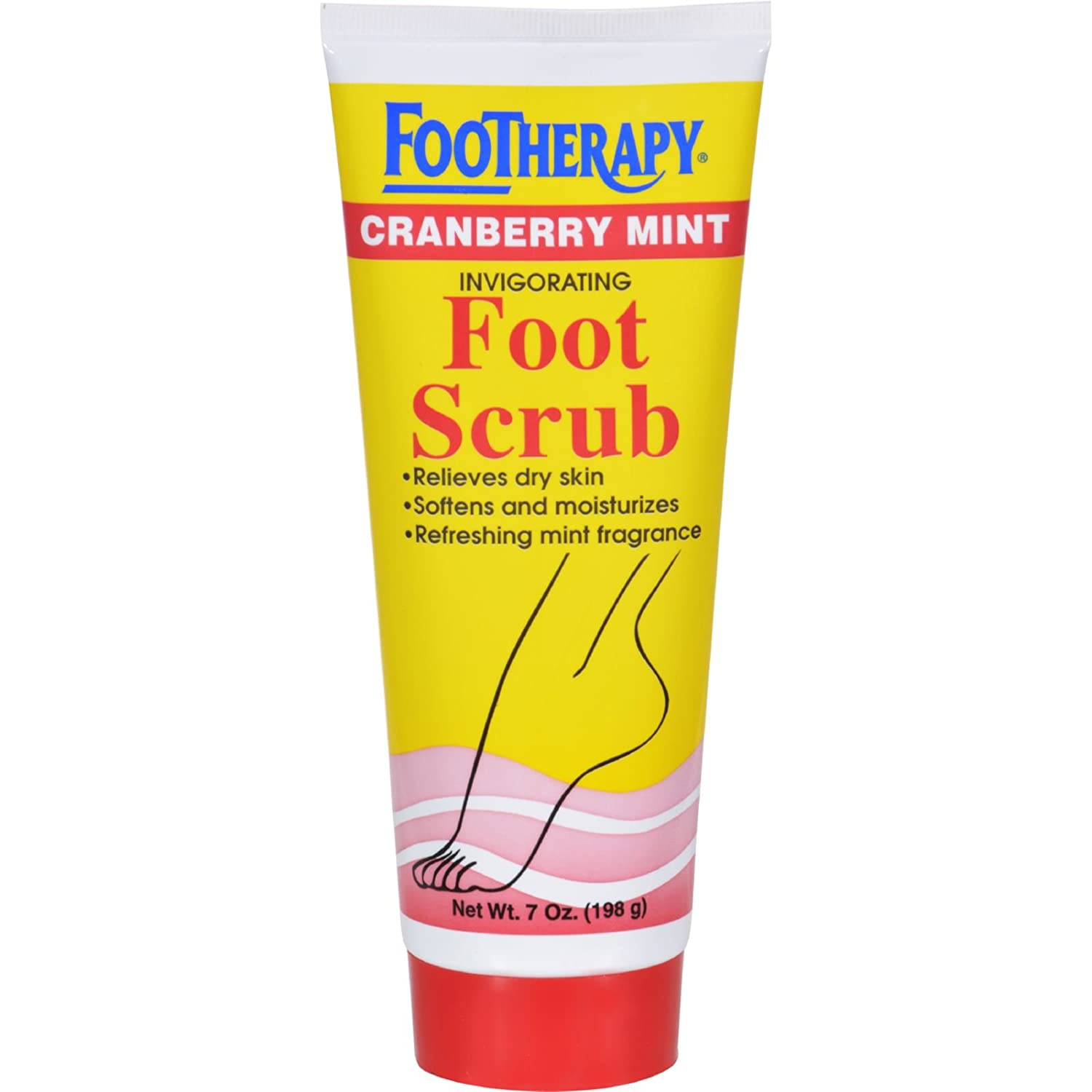 Footherapy Cranberry Mint Foot Scrub Queen Helene 7 oz Scrub 079896220649