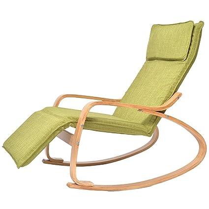 Bseack Silla Mecedora, sillón de Siesta Ajustable al Aire ...