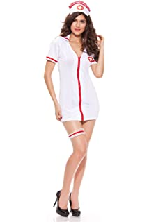 6eab36a2b5b Amazon.com: Fever Smiffys Women's No Nonsense Nurse Costume, Dress ...