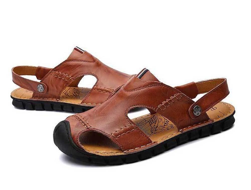 Herren Sandalen und Hausschuhe Sommer Neue Strand Schuhe Casual Fahr Sandalen Schwarz Braun Gelb Größe 38-44 Outdoor