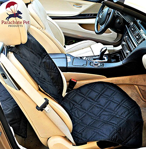 (Front Seat Cover with Non-Slip Material and Scratch Proof to Protect Bucket Seat From Dog and Cat Scratches, Machine Washable - Black by Parachute Products)