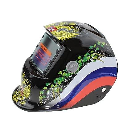 Hanbaili Casco de soldadura, asistente de plata Casco de oscurecimiento automático del casco de soldadura