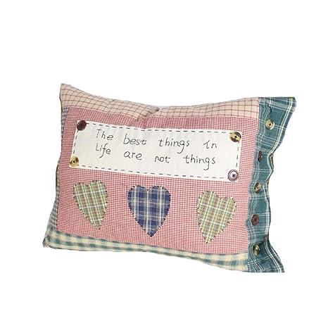 Amazon.com: ZSDGY - Almohada para sofá hecha a mano, diseño ...