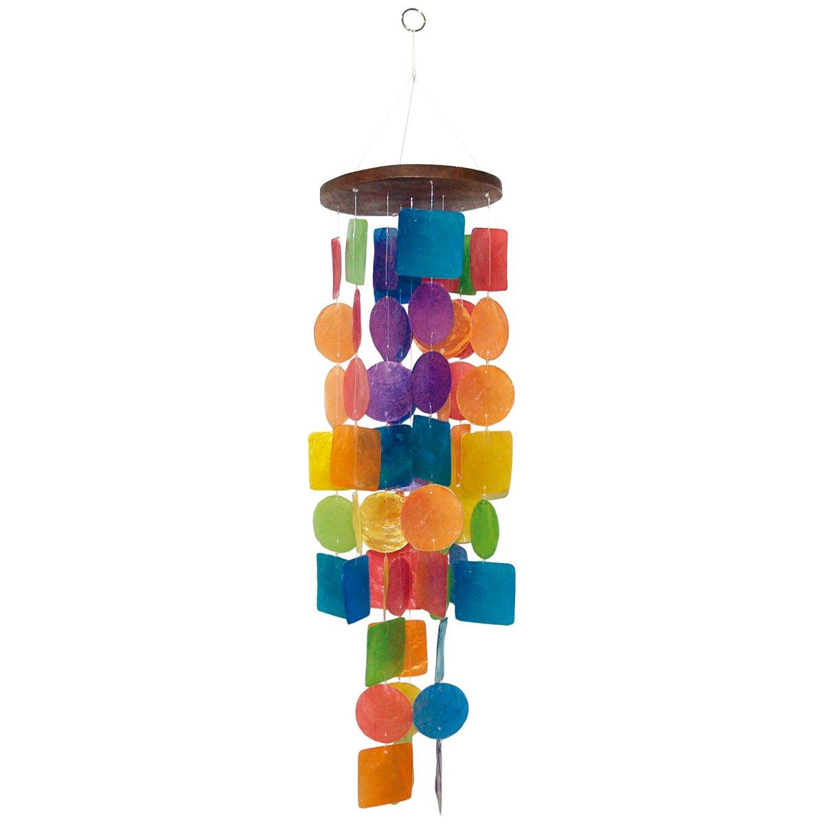 laroom 12495–Carillon Vento Conchiglie Colori 65cm, Colore