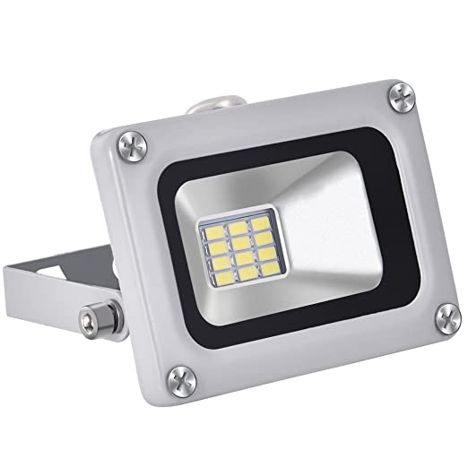 CSHITO Foco LED 10W,720 lm, Impermeable IP65,Foco proyector exterior,Blanco frío 6500K