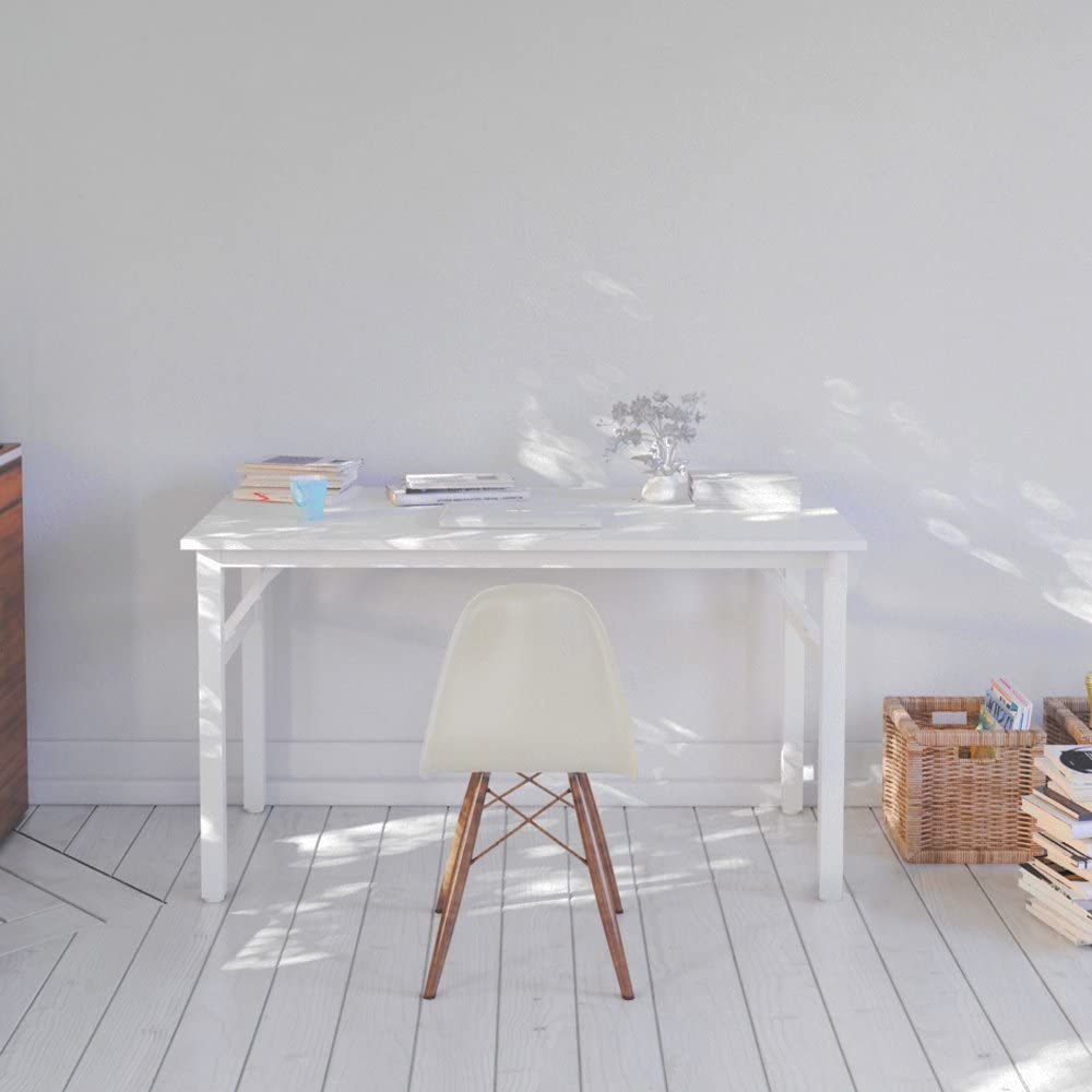 Bianco AC5DW-100 Need Tavoli Pieghevole 100x60cm Scrivanie Studio Tavoli Ufficio Postazioni di lavoro per Computer in Legno Scrivania