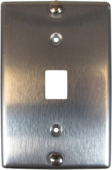 Stainless Steel Allen Tel Products ATBK-VOIP VoIP Single Gang 1 Port Wall Telephone Faceplate