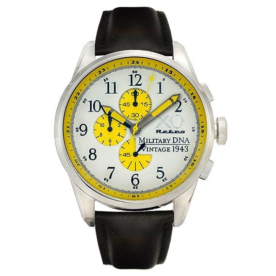Nueva XO Retro P-38 Lightning avión Vintage SEGUNDA GUERRA MUNDIAL 1943 Militar ADN reloj reloj: Amazon.es: Relojes