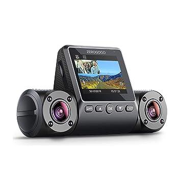 ZEROGOGO R2 Uber Taxi Dual Lens Dash Cam Dual 1080P Front and Rear Car  Camera Dashcam w/GPS w/Sony Sensor, Infrared Night Vision, Parking Mode,  Super