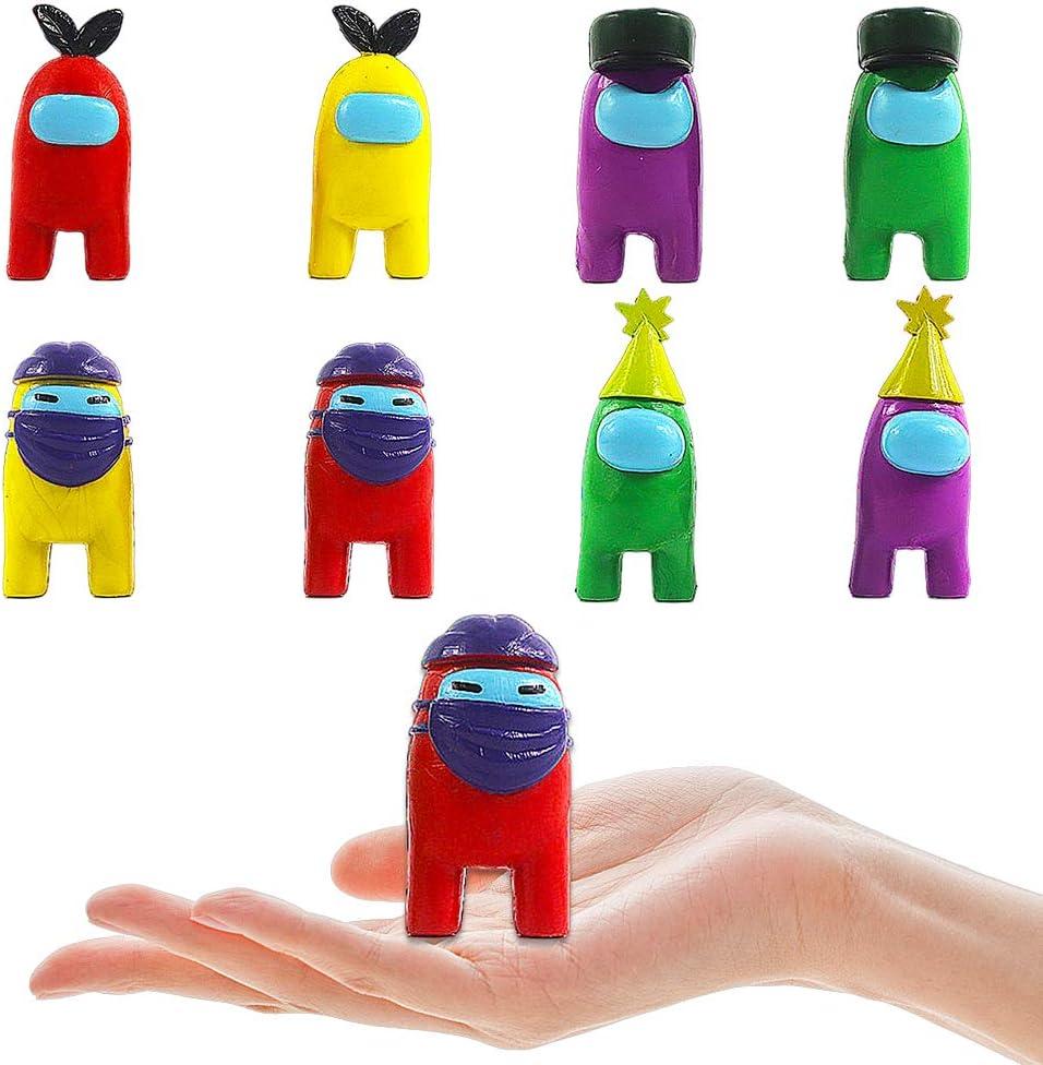 BESTZY Among Us Figuras en Miniatura 8PCS Among Us Figure Toy Entre Nosotros Juguetes Navidad DIY Figuras de Jard/ín Decoraciones Adornos de Mesa Escritorio Figuras de Juguete Lindas Colecci/ón