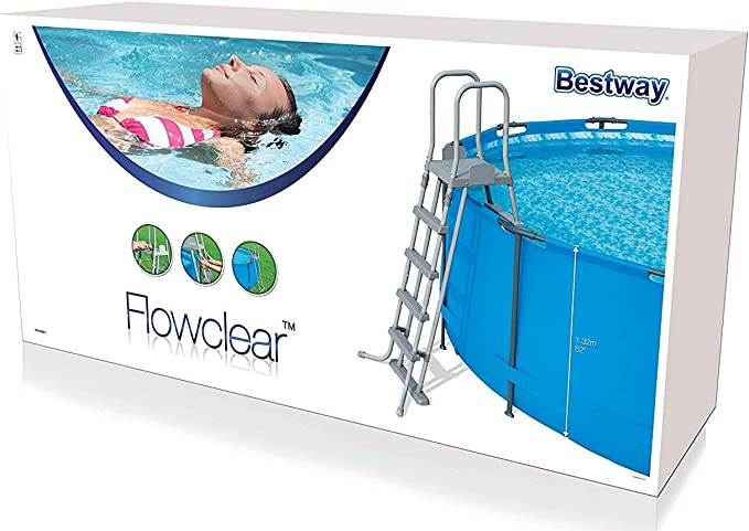 Escalera para Piscina Desmontable Bestway 132 cm: Amazon.es: Jardín