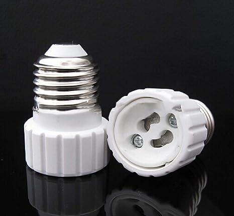 Soporte de lámpara Koojawind, bombillas LED E27 a GU10 ...