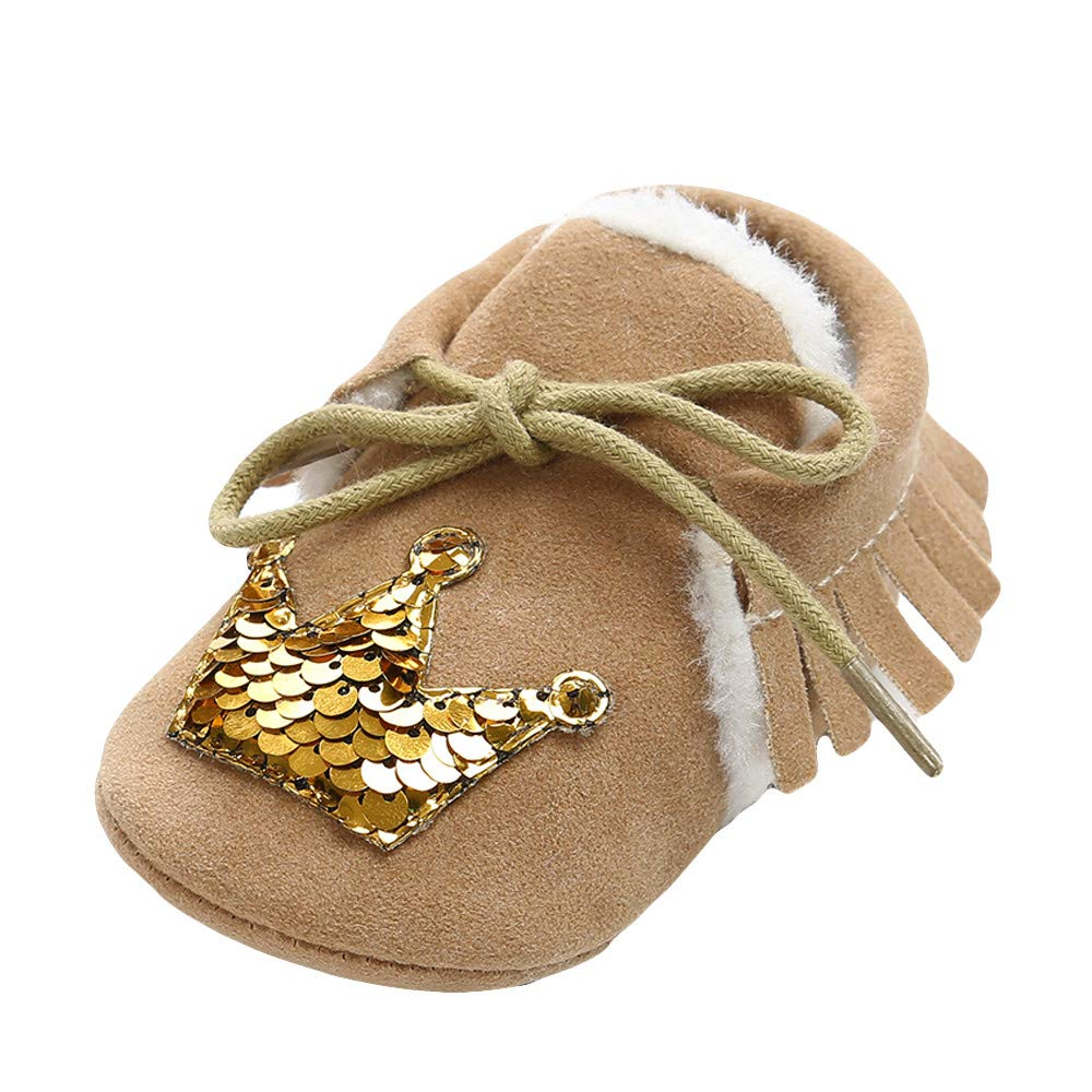 XUANOU Baby Bandage Cotton Shoes Keep Warm Sequins Toddler First Walkers Kid Shoes