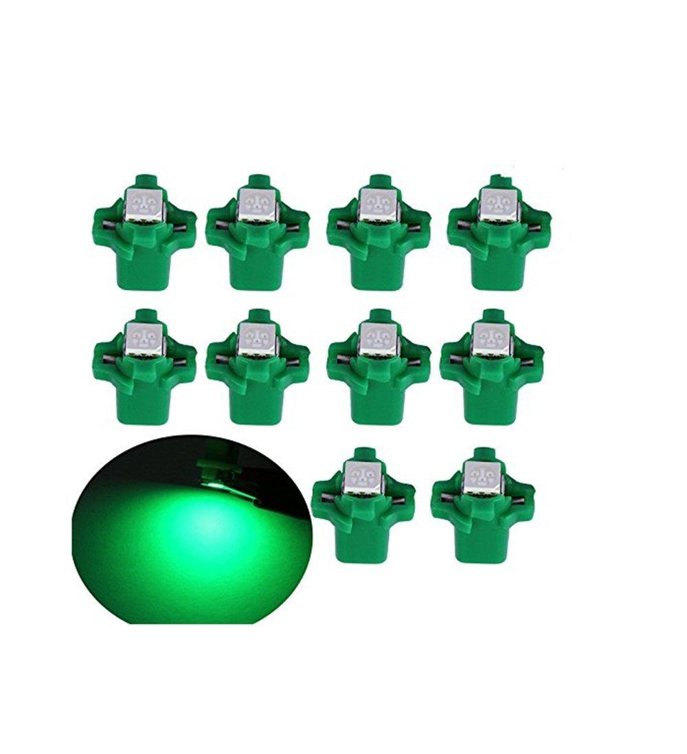 Sport family 10PCS Green T5 B8.3D 5050 1-SMD LED Auto Tachobeleuchtung Tacho Licht Birne Lampe Innenraum Lampe Armaturenbrett Licht