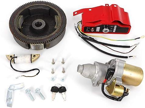 Amazon.com: Electric Start Kit Starter Motor Flywheel Switch For Honda GX240  8HP GX270 9HP: AutomotiveAmazon.com