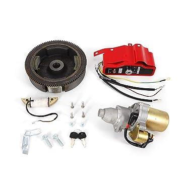 Amazon.com: Kit de arranque eléctrico para motor de arranque ...