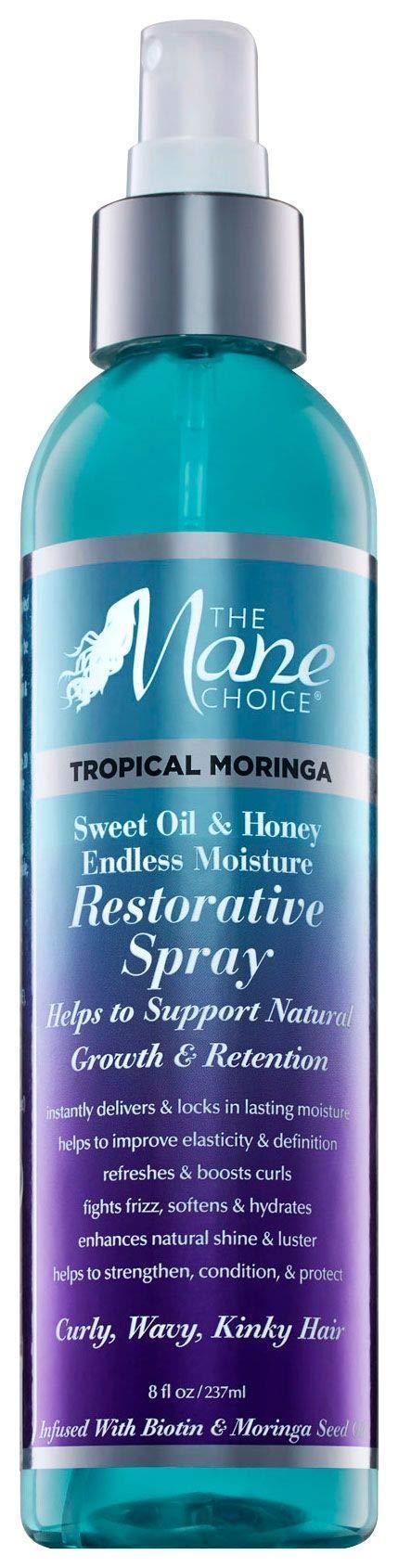 THE MANE CHOICE - Tropical Moringa Sweet Oil & Honey Endless Moisture Restorative Spray (8 fl. oz.)