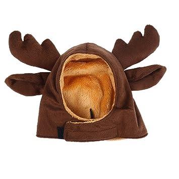 Bello Luna et Elk Hat Gorra para perros pequeños y gatos -Marrón ...
