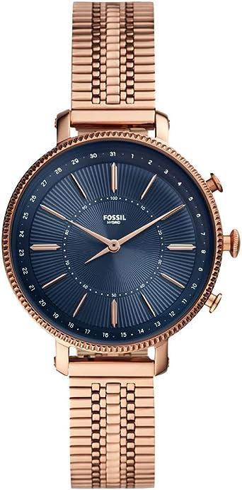 Fossil Reloj híbrido Smartwatch Cameron Caja y Correa en Acero ...