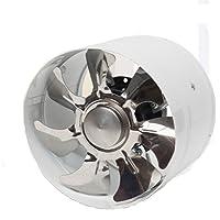 Homyl 6 Pouces 150mm Ventilateur D'extraction en Ligne Ventilateur D'évacuation De Toilettes Salle De Bains