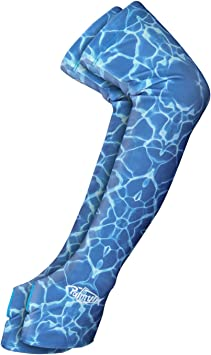 1pair Blue Arm Sleeves Stretch Cover UV Sun Protection Basketball Running Size L