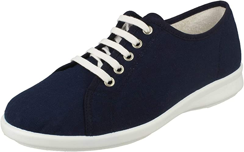 B Casual Canvas Shoes Anthea Navy