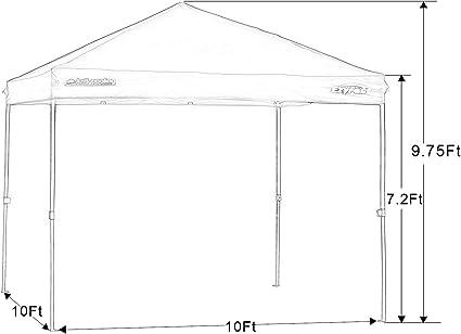 20 x 10 coupe droite instantanée Canopy Shade Tente Outdoor Shelter Picnic