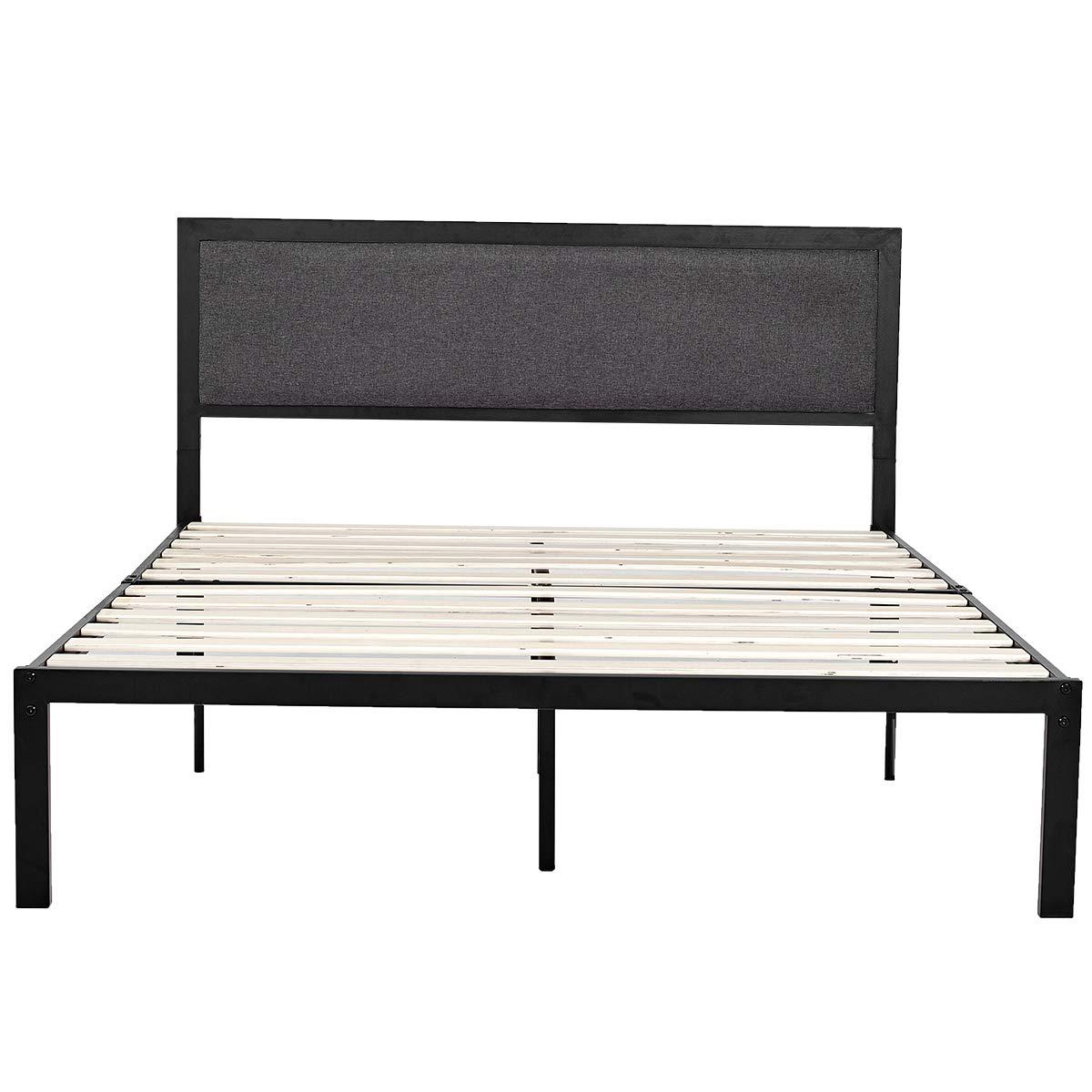 Queen Platform Metal Bed Frame