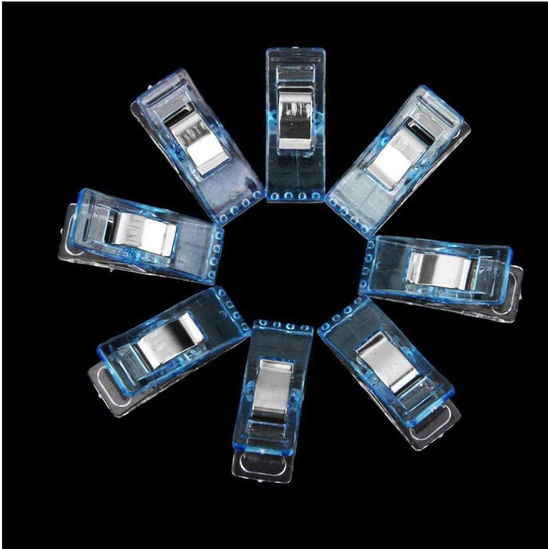 50Pcs plastica cucire clip Wonder Clips Quilters clip mestiere di cucito Quilt Binding clip Morsetti Quilting Supplies Blu